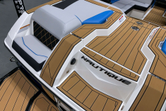 Comfortable Transom Seats of the 2021 Nautique GS20 Wake Boat