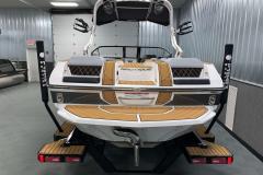 Fiberglass Swim Platform of the 2021 Nautique GS22 Wake Boat