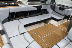 Anthracite Interior Accents on the 2021 Nautique GS22 Wake Boat