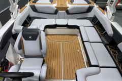 Mocha Non-Skid SeaDek Flooring of the 2021 Nautique GS22 Wake Boat