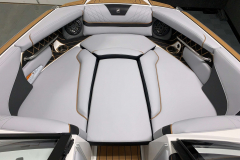 Bow Filler Cushion on the 2021 Nautique GS22 Wake Boat