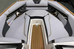Spacious Bow Layout of the 2021 Nautique GS22 Wake Boat