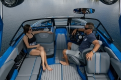 Spacious Cockpit Layout on the 2022 Nautique GS22 Wake Boat