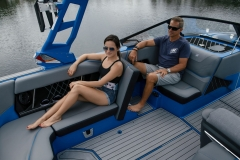 Rear Facing Seating Configuration on the 2022 Nautique GS22 Wake Boat