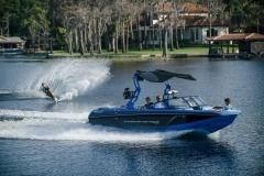 Slalom Skiing Behind the 2022 Nautique GS22 Wake Boat