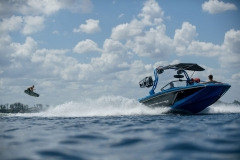 Wakeboarding Behind the 2022 Nautique GS22 Wake Boat