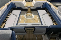 Rear-Facing Seating of the 2021 Nautique G25 Paragon Wake Boat