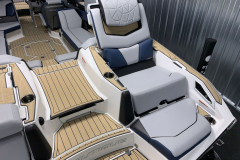Convertible Transom Seat of the 2021 Nautique G25 Paragon Wake Boat