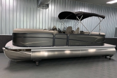 Folding Bimini Top of the 2021 Premier 220 Sunspree RF Pontoon Boat