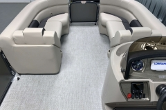 Interior Bow Layout of the 2021 Premier 220 Sunspree RF Pontoon Boat