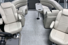Interior Rear Layout of the 2021 Premier 220 Sunspree RF Pontoon Boat
