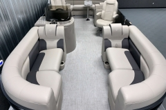 Interior Layout of the 2021 Premier 220 Sunspree RF Pontoon Boat