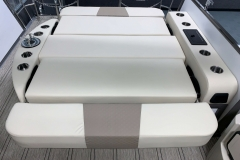 Full Rear Bed Position of the 2021 Premier 230 Solaris RL Tritoon Boat