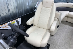 High Back Captain's Chair of the 2021 Premier 230 Sunsation RF Tritoon Boat