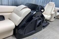 Helm Storage of the 2021 Premier 230 Sunsation RF Tritoon Boat