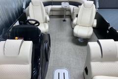 Caspian Weave Flooring on the 2021 Premier 230 Sunsation RF Tritoon Boat