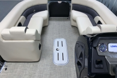 Interior Bow Layout of the 2021 Premier 230 Sunsation RF Tritoon Boat
