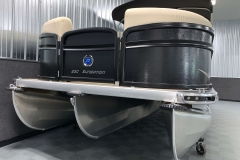 "PTX 25"" Tritoon Hull on the 2021 Premier 230 Sunsation RF Tritoon Boat"