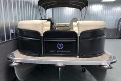 Bow Swim Deck of the 2021 Premier 230 Sunsation RF Tritoon Boat
