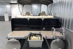 Rear Swim Deck of the 2021 Premier 230 Sunsation RF Tritoon Boat