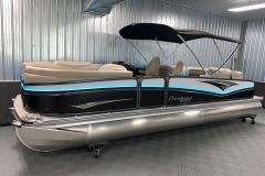 11' Powered Bimini of the 2021 Premier 250 Intrigue RF Tritoon Boat