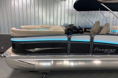 Two-Tone Panel Design on the 2021 Premier 250 Intrigue RF Tritoon Boat