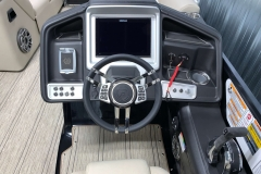 "Simrad 12"" Touchscreen Display of the 2021 Premier 250 Intrigue RF Tritoon Boat"