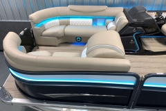 RGB Bow Lighting of the 2021 Premier 250 Intrigue RF Tritoon Boat