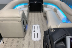 Interior Bow Layout of the 2021 Premier 250 Intrigue RF Tritoon Boat