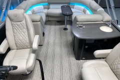 Interior Rear Layout of the 2021 Premier 250 Intrigue RF Tritoon Boat