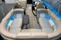 Interior Layout of the 2021 Premier 250 Intrigue RF Tritoon Boat