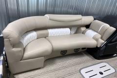 Sub Floor Ski Locker of the 2021 Premier 250 Intrigue RF Tritoon Boat