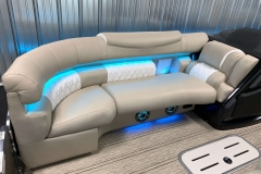 Ultrafabric Furniture of the 2021 Premier 250 Intrigue RF Tritoon Boat