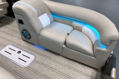 Mirage Changing Room of the 2021 Premier 250 Intrigue RF Tritoon Boat