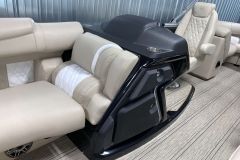 Raised Helm of the 2021 Premier 250 Intrigue RF Tritoon Boat