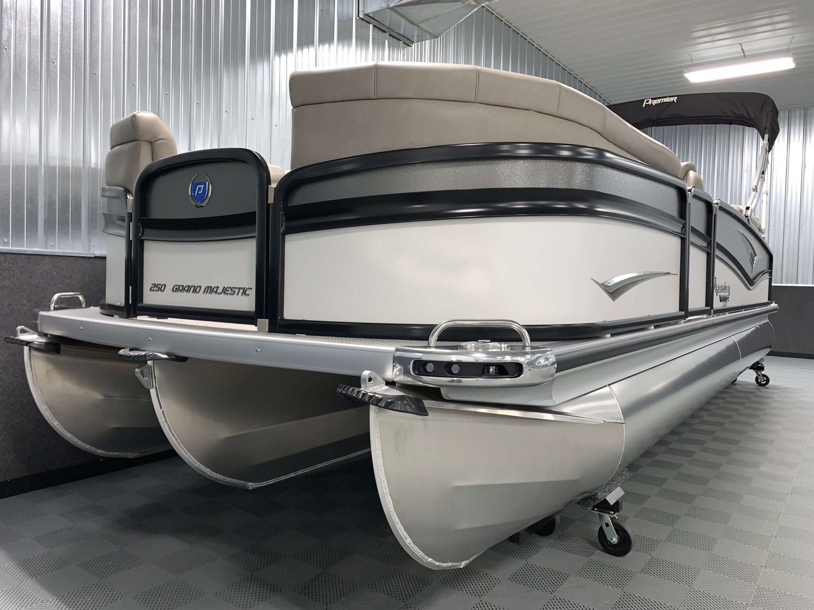 PTX Tritoon Package of the 2021 Premier 250 Grand Majestic Tritoon Boat