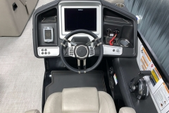 "12"" Touchscreen Simrad Display of the 2021 Premier 250 Grand Majestic Tritoon Boat"
