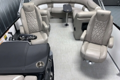 Interior Rear Layout of the 2021 Premier 250 Grand Majestic Tritoon Boat