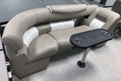 Removable Snack Table of the 2021 Premier 250 Grand Majestic Tritoon Boat