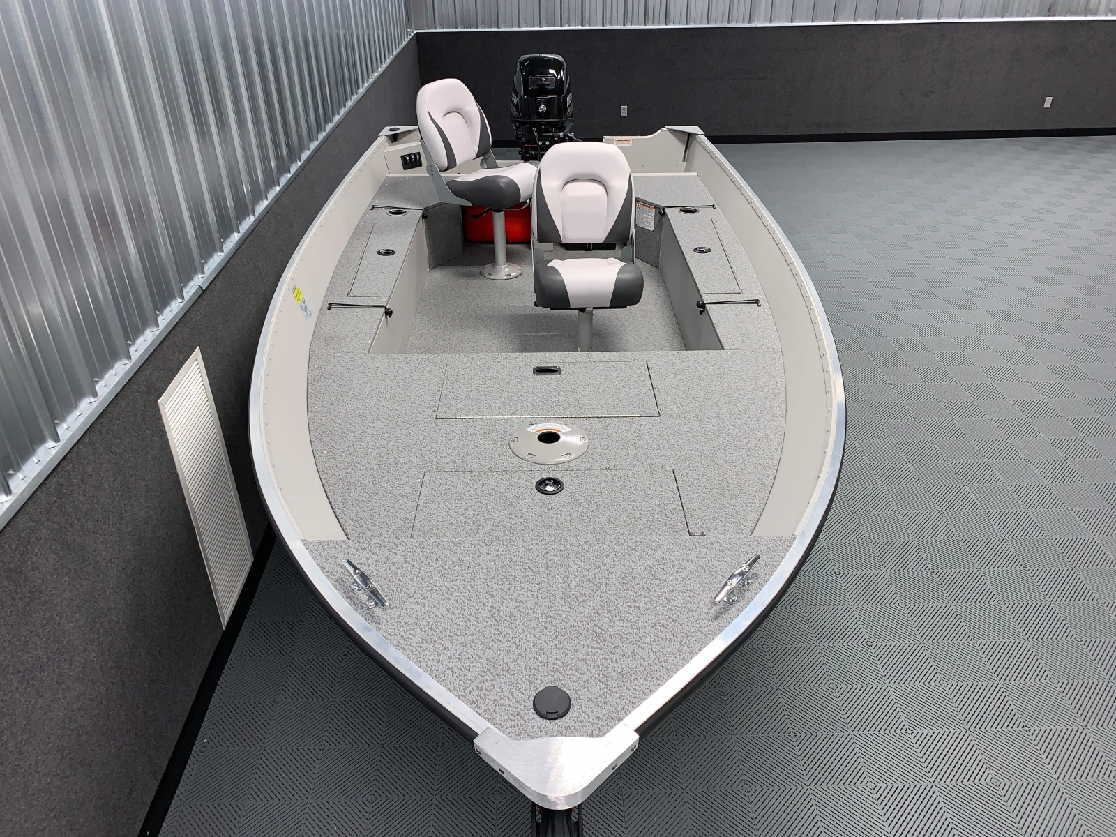 Interior Layout of the 2021 Smoker Craft 14 TL Angler Fishing Boat