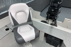 Captain's Chair of the 2021 Smoker Craft 14 TL Angler Fishing Boat
