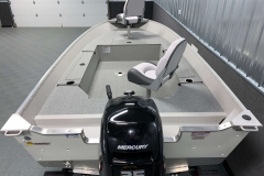 Interior Rear Layout of the 2021 Smoker Craft 14 TL Angler Fishing Boat
