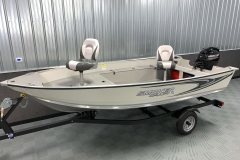 Interior/Exterior of the 2021 Smoker Craft 14 TL Angler Fishing Boat
