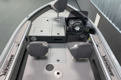 Easy-Clean Vinyl Flooring of the 2021 Smoker Craft 161 Pro Angler XL Fishing Boat