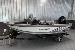Interior/Exterior of the 2021 Smoker Craft 161 Pro Angler XL Fishing Boat