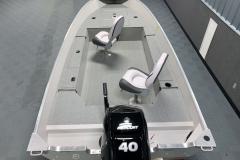 Interior Rear Layout of the 2021 Smoker Craft 16TL Angler Fishing Boat
