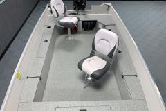 Lower Casting Platform of the 2021 Smoker Craft 16TL Angler Fishing Boat