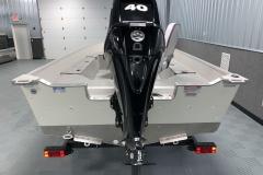 Mercury 40HP Four-Stroke Tiller Motor on the 2021 Smoker Craft 16TL Angler Fishing Boat