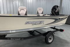 Sport Graphics of the 2021 Smoker Craft 16TL Angler Fishing Boat