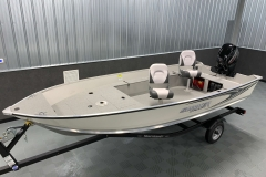 Interior/Exterior of the 2021 Smoker Craft 16TL Angler Fishing Boat